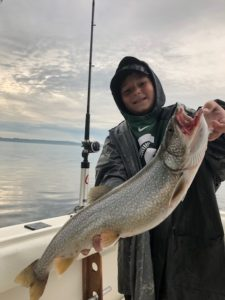 Noah with a big Traverse City Trout